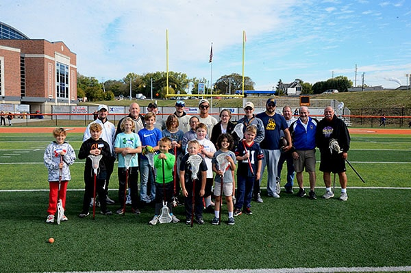 A group photo of River City Sticks Lacrosse coaching staff and participants after